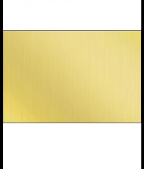 "Unisub Gloss Gold 12"" x 24"" 1-Sided Aluminum Sheet"