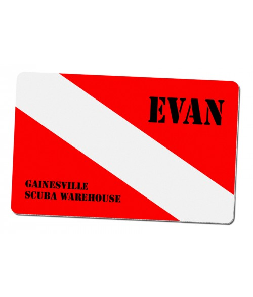 "Unisub Gloss White 2-1/8"" x 3-3/8"" Aluminum Name Badge"