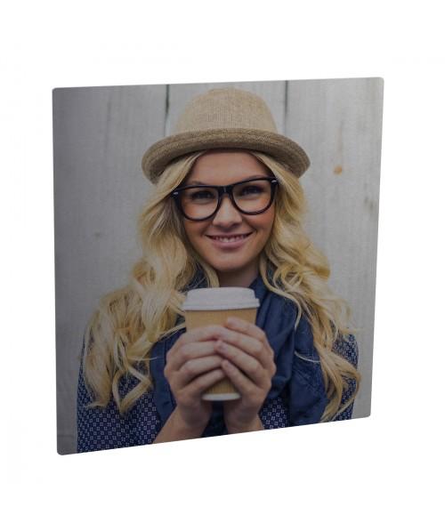 "Unisub ChromaLuxe Semi-Gloss Silver 4"" x 4"" Square Aluminum Photo Panel"