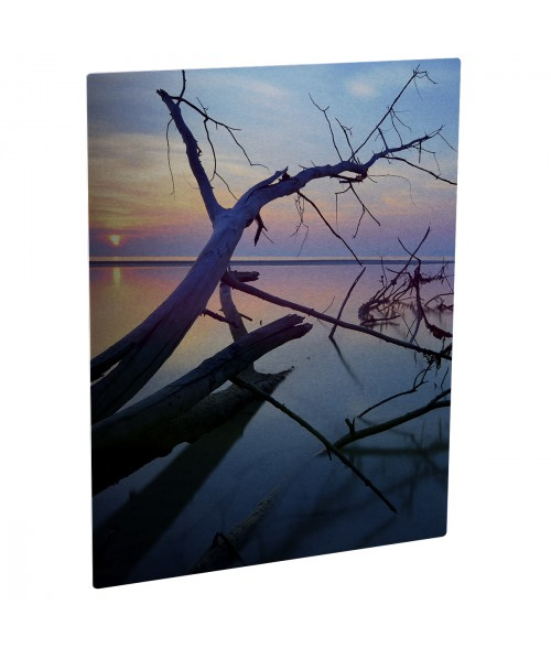 "Unisub ChromaLuxe Semi-Gloss Silver 8"" x 12"" Rectangle Aluminum Photo Panel"