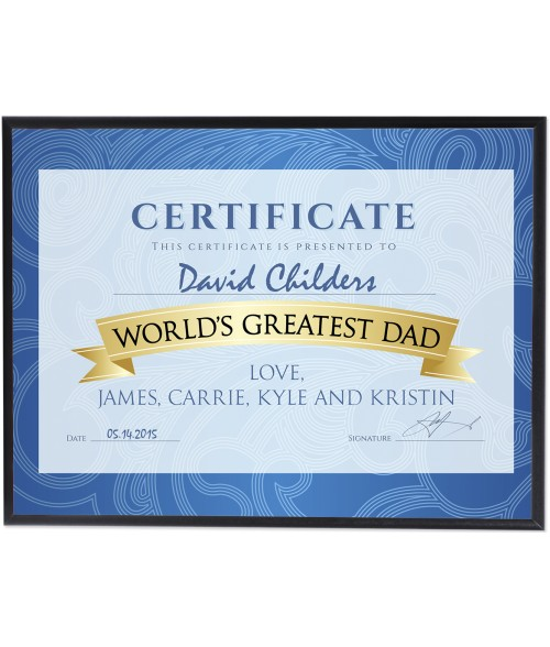 "Unisub Value Line Black 5"" x 7"" MDF Plaque"