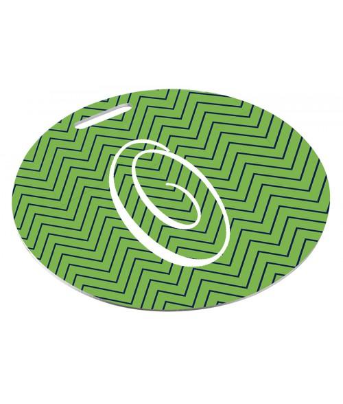 "Unisub Semi-Gloss White 3-1/2"" Circle Aluminum Bag Tag"