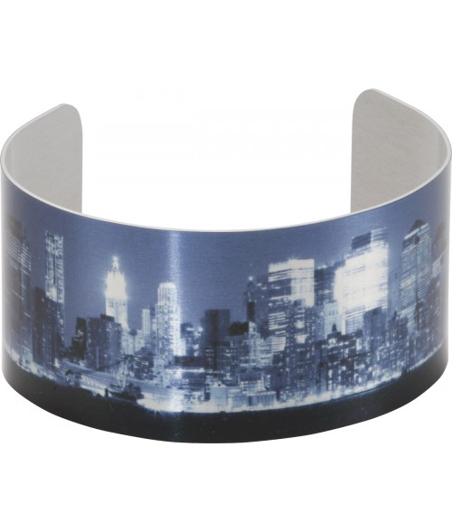 "Unisub Silver 1-3/8"" x 6-1/2"" Stand Cuff Bracelet"
