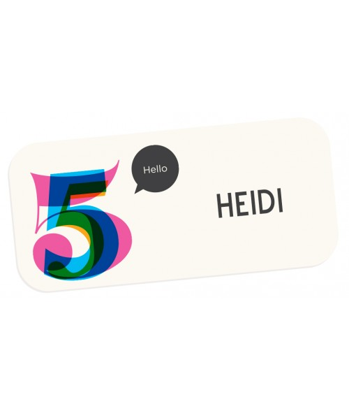 "Unisub Matte White 1-1/4"" x 3"" FRP Name Badge"