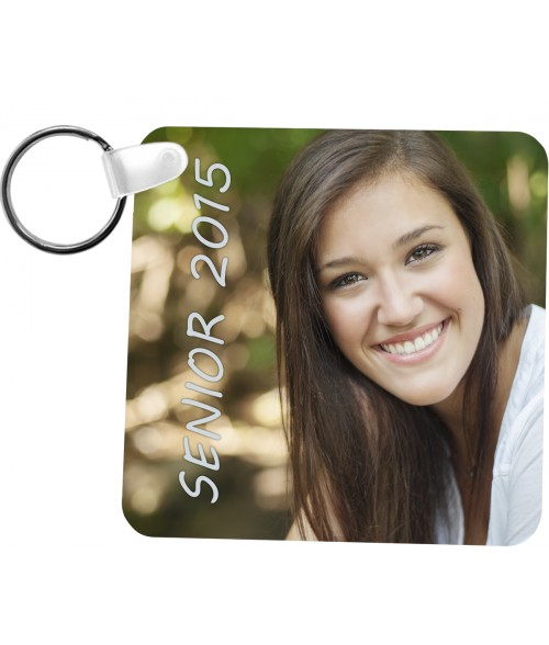 "Unisub Gloss White 2.25"" x 2.25"" 2-Sided FRP Diamond Key Chain"