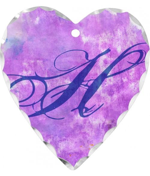 "Unisub 7/8"" Heart Florentine Charm"