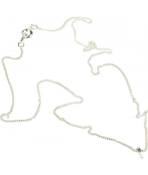 "Unisub Sterling Silver Plated 18"" Necklace with Bale for Florentine Jewelry"