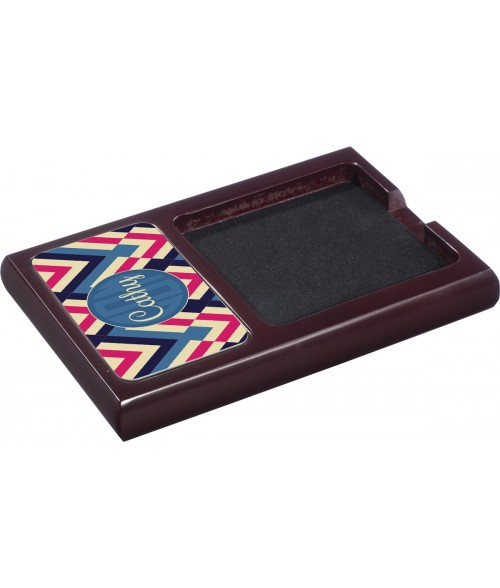Unisub Mahogany Wood Note Holder