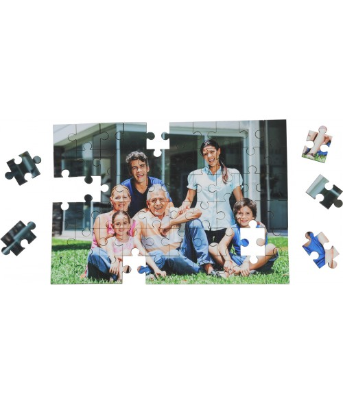 "Unisub 6-3/4"" x 9-3/4"" Rectangle Hardboard Jigsaw Puzzle (60 Pieces)"