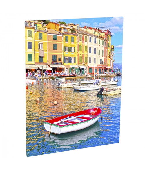 "Unisub ChromaLuxe Gloss White 8"" x 10"" Rectangle Aluminum Photo Panel"