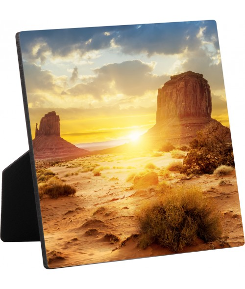 "Unisub ChromaLuxe 6"" x 6"" Flat Top Hardboard Photo Panel with Easel"