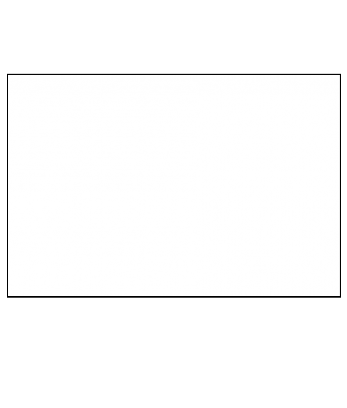 "Unisub Matte White 23-1/4"" x 47"" 1-Sided Hardboard Sheet"