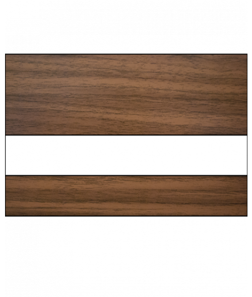 "IPI Woods Gloss Light Walnut/White 1/16"" Engraving Plastic"