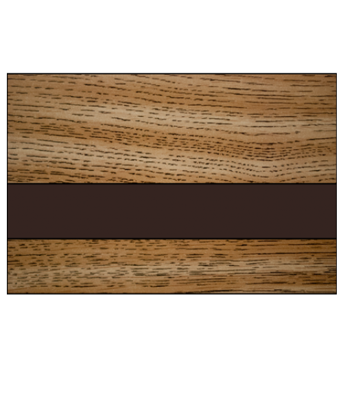 "IPI Woods Gloss Light Oak/Dark Brown 1/16"" Engraving Plastic"