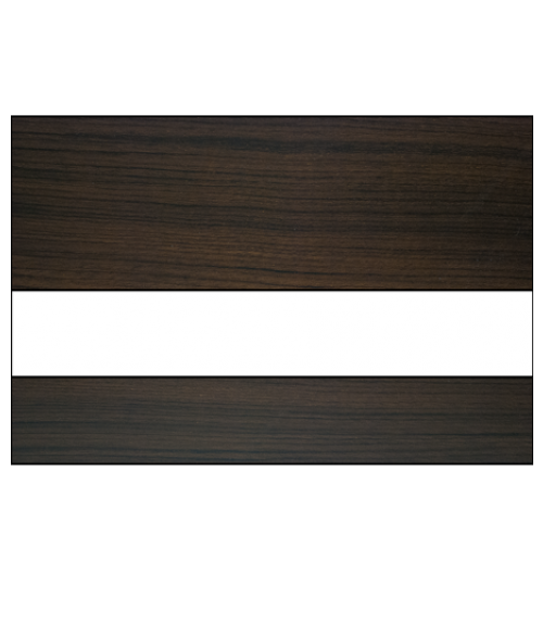 "Scott-Ply Woodgrain Walnut/White/Walnut 1/8"" Engraving Plastic"