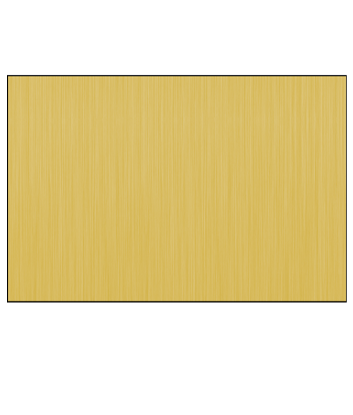 "DynaSub Gloss Brushed Gold 12"" x 24"" 1-Sided Aluminum Sheet"