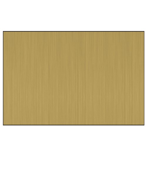 "DynaSub Gloss Brushed Bronze 12"" x 24"" 1-Sided Aluminum Sheet"