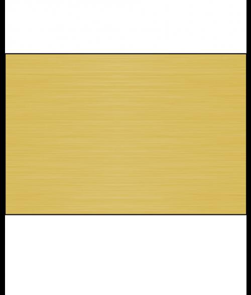 "Gloss Brushed Brass 12"" x 24"" 1-Sided Aluminum Sheet"