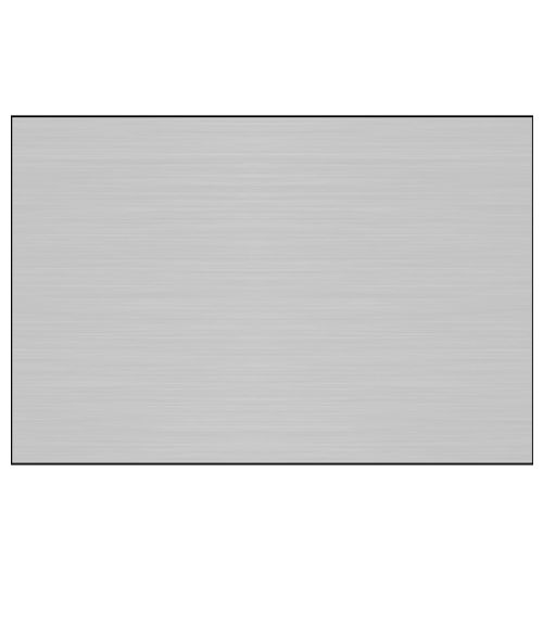 "Gloss Brushed Silver 12"" x 24"" 1-Sided Aluminum Sheet"