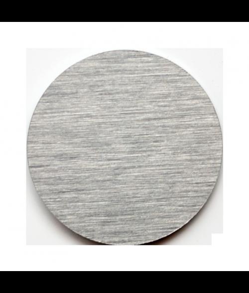 Gloss Brushed Silver 24mm Aluminum Circle