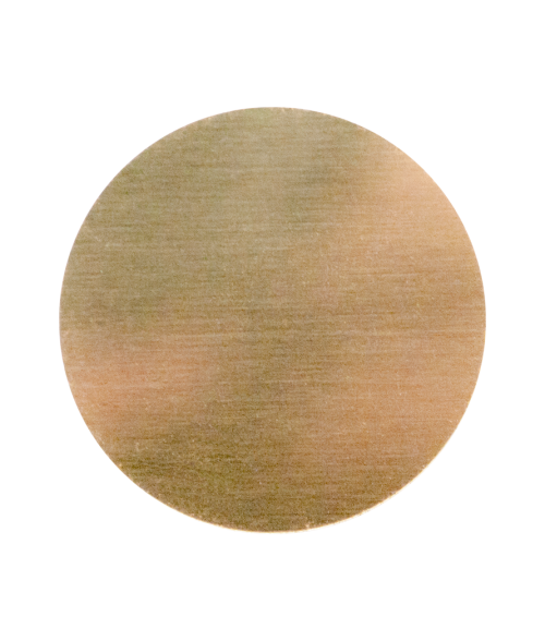 Gloss Gold 24mm Aluminum Circle