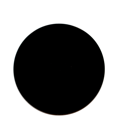 Gloss Black 24mm Aluminum Circle