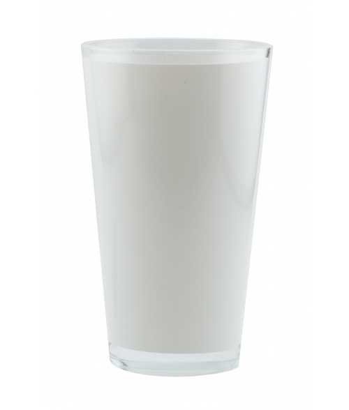 Clear 16oz Pint Glass with White Wrap (24/Case)