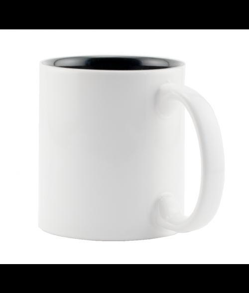 Rhinocoat White/Black 11oz Two Tone Mug (36/Case)