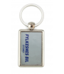 Punch N Press Silver 25 x 40mm Rectangle Key Chain (2-Sided)