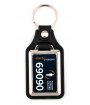 Punch'nPress Black 25 x 40mm Rectangle Key Chain