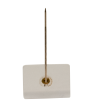"1-5/8"" Brass Partition Pin with Vinyl Back"