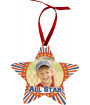 Unisub White Aluminum Star Ornament