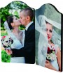 "Unisub ChromaLuxe 5-1/4"" x 2-7/8"" Arch Top Double Hardboard Photo Panel Set"