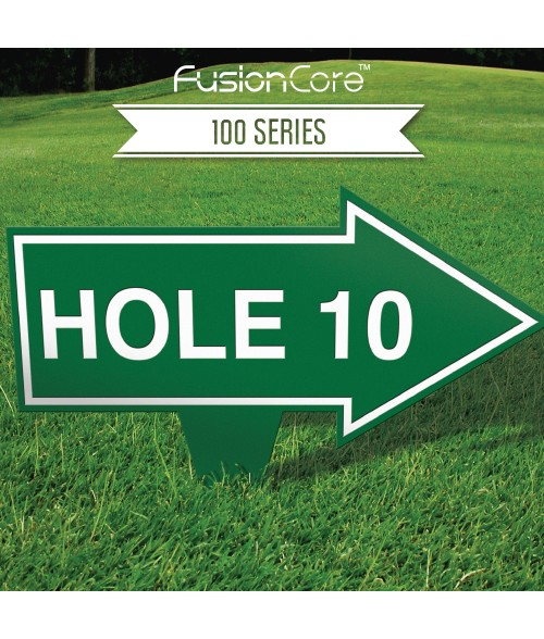 """FusionCore Series 100 Arrow Golf Sign with Integrated Spike (10"""" x 8"""")"""