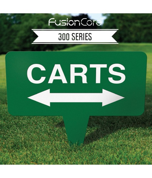 """FusionCore Series 300 Rectangle Golf Sign with Integrated Spike (10"""" x 10"""")"""