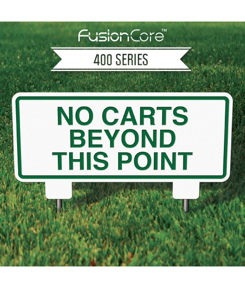 """FusionCore Series 400 Rectangle Golf Sign with Steel Spikes (12"""" x 6"""")"""