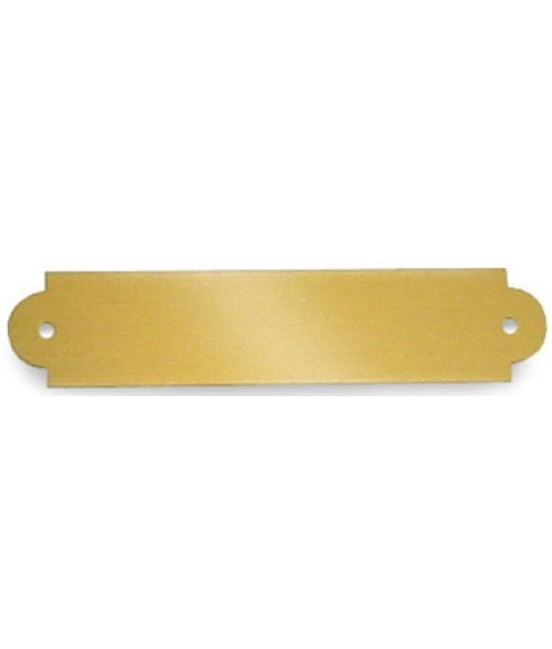 "Satin Gold .75"" x 3.5"" Brass Decorative Plaque Plate"