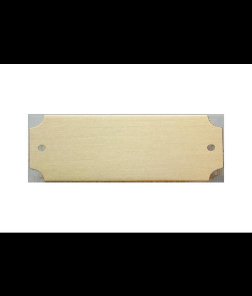 "Satin Gold 7/8"" x 2-1/2"" Lacquered Aluminum Decorative Plaque Plate"