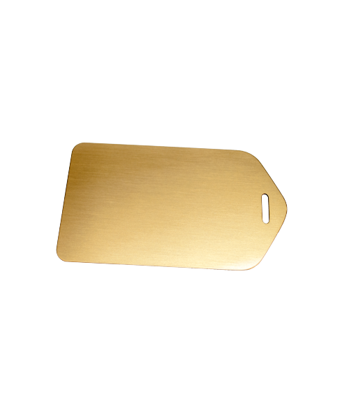 "Satin Gold 2.5"" X 4.5"" Brass Luggage Tag"