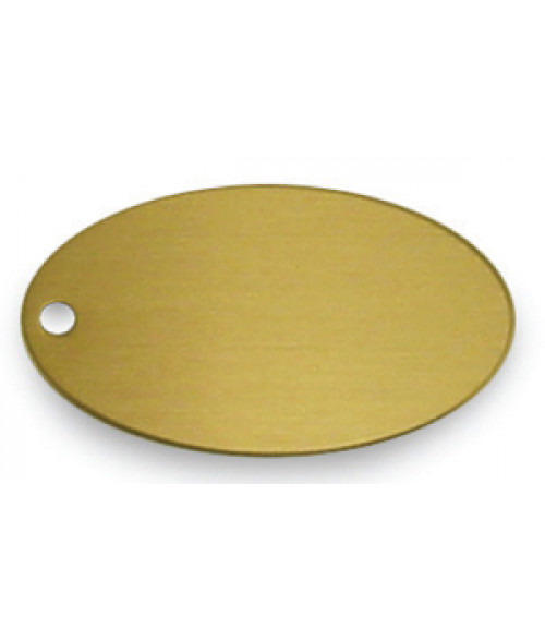 "Satin Gold 1.375"" x 2.5"" Brass Oval"