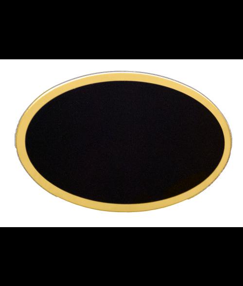 "Gloss Black 1-11/16"" x 2-9/16"" Badge Blank"