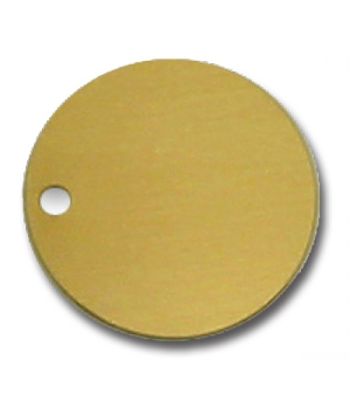 "Satin Gold 1.5"" .040"" Brass Circle"