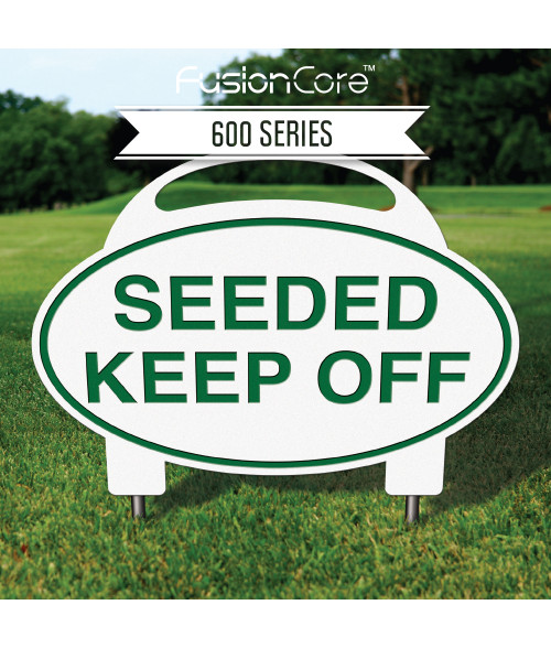 """FusionCore Series 600 Oval Golf Sign with Steel Spikes (12"""" x 9"""")"""