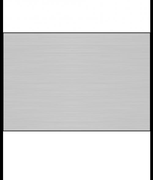"AlumaMark Satin Silver .005"" Aluminum Sheet with Adhesive"