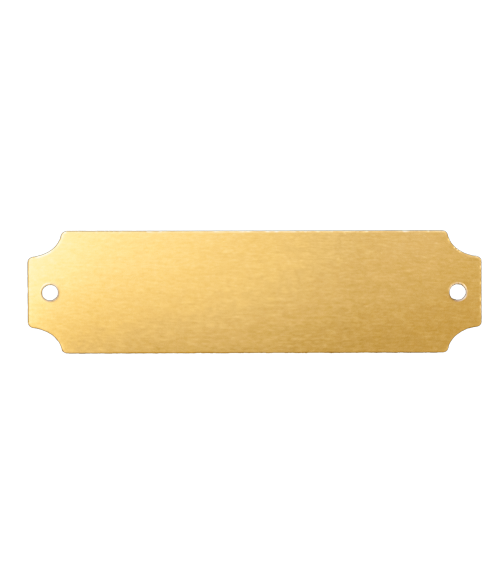 "AlumaMark Satin Brass 7/8"" x 2.5"" Plate with Notch"