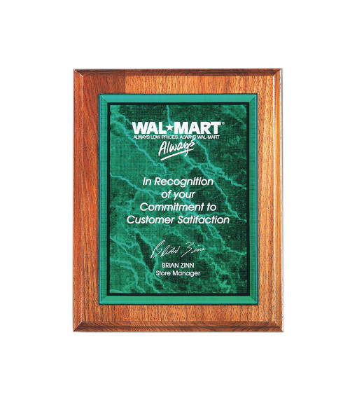 """Green 5"""" x 7"""" Acrylic Marble Plaque Plate"""