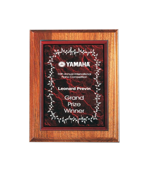 "Red 6"" x 8"" Acrylic Marble Plaque Plate"