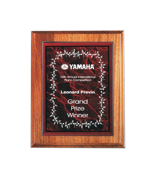 "Red 7"" x 10"" Acrylic Marble Plaque Plate"