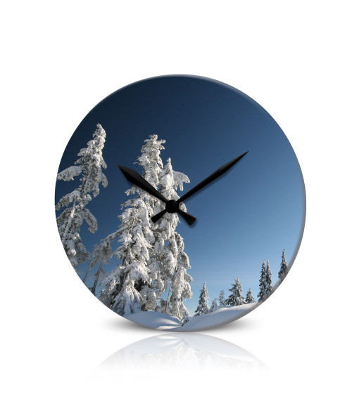 "Clear 10"" Round Acrylic Clock"
