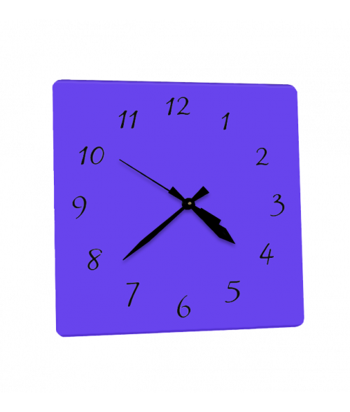 "Clear 10.75"" x 10.75"" Square Acrylic Clock"